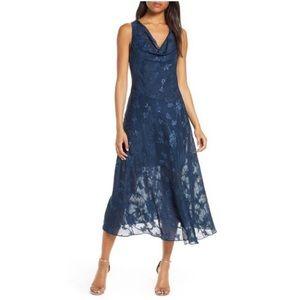 ‼️NWT‼️ Eliza J Long Navy Lace Dress